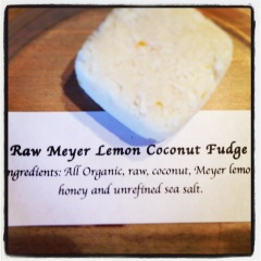 Meyer Lemon Coconut Fudge (raw)