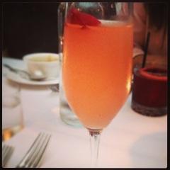 """Bella""  plymouth / lillet rose / ruby grapefruit / rose water / raspberries"