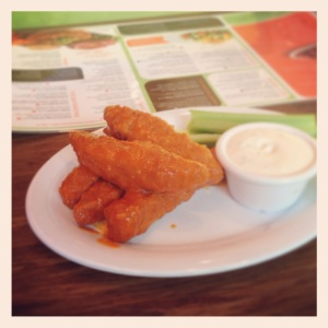 Crispy Chick'n w/Buffalo Sauce