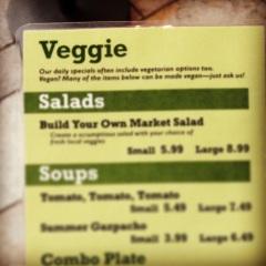 Vegan/Gluten Free Menu