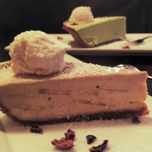 Banana cream pie; key lime pie