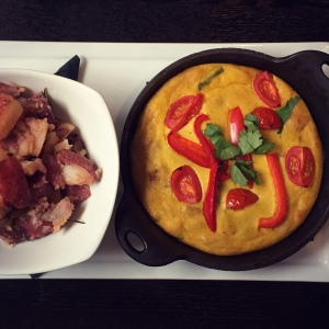 Fritatta with home fries
